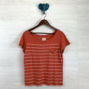 ⚜️ 4/$25 SALE! AEO Red Boat Neck Striped Tee